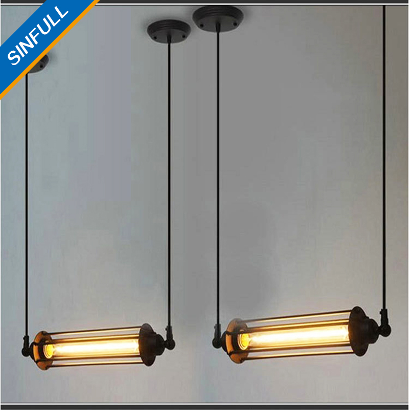 Vintage American Loft living room Pendant Lights Steampunk Industrial Metal Tube suspension Lamp bedroom hotel home E27 lighting white crystal pendants chandeliers lights vintage pendant lamp for living room bedroom europe style pendant lamps home lighting