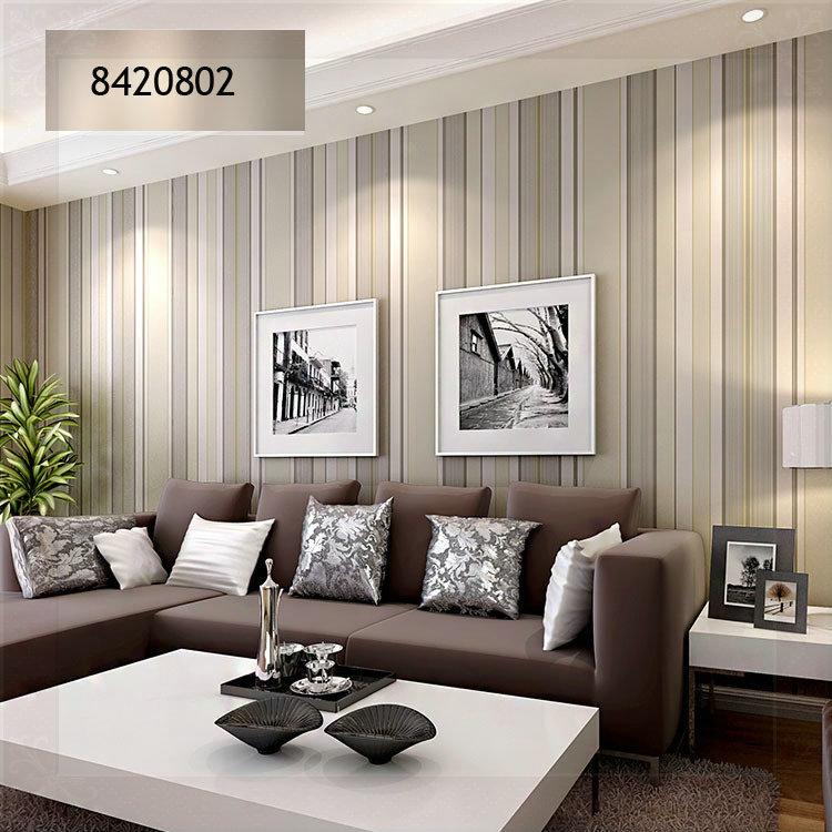 Striped Wallpaper Living Room Ideas