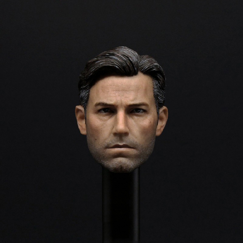 Big Ben Batman Ben Affleck 1/6 Scale Male Head Sculpts Model Toys For 12 Male Action Figure Accessory Collections Freeshipping 1 6 scale full set male action figure kmf037 john wick retired killer keanu reeves figure model toys for gift collections