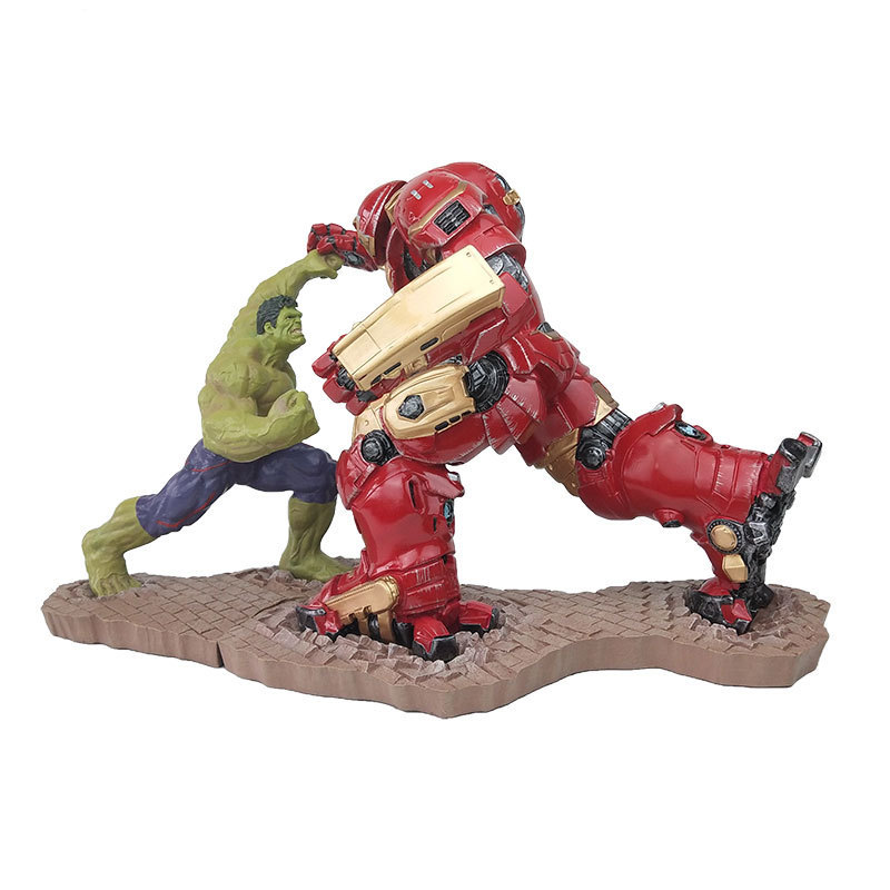 [Best] 2 pièces/ensemble grande taille les Avengers Hulk VS iron man MK44 figurine Action Statue version Combat collection modèle adulte cadeau