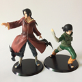 Naruto 17 Edition 2pcs/set Action Figures Rock Lee & Uchiha Itachi Doll PVC figure Toys Brinquedos Anime 19CM