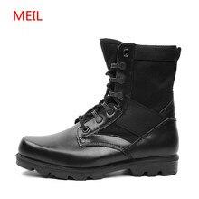 Autumn Mens Tactical Military Boots Genuine Leather Men Work Shoes Army Botas Militares Zapatos De Hombre