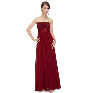Image 3 - Elegant Burgundy Long Bridesmaid Dresses A Line V Neck Women Guest Dress for Wedding Party Ever Pretty Plus Size Formal Gowns