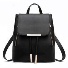 Women Backpack High Quality PU Leather Mochila Escolar School Bags For Teenagers Girls Top-handle Backpacks  Fashion 2019 Casual women backpack high quality pu leather sac a main school bags for teenagers girls top handle large capacity student package