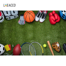 Laeacco Green Playground Balls Sports Theme Children Photography Backgrounds Customize Photographic Backdrops For Photo Studio