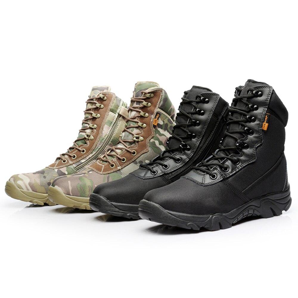 Motorrad Stiefel Männer Moto Motocross Reiten Stiefel Military Stiefel Qualität Special Force Tactical Wüste Kampf Armee Arbeit Stiefel