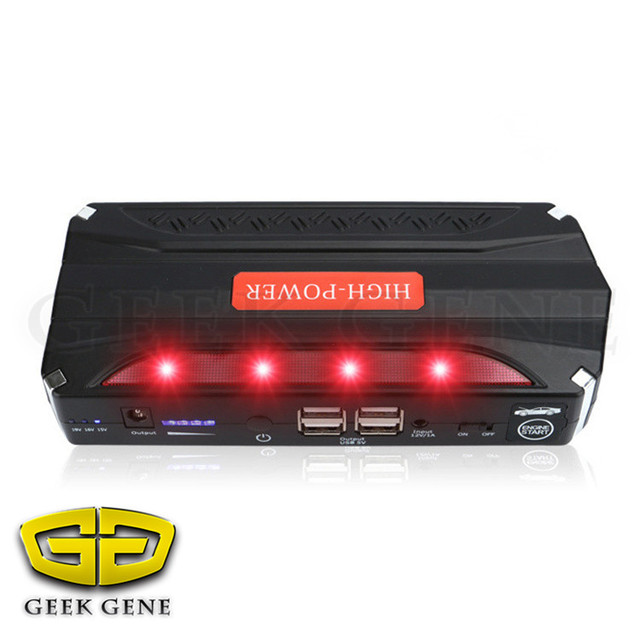 High Capacity Car Power Bank Car Jump Starter Emergency Charger Free ship mini power 3000times start Portable car start
