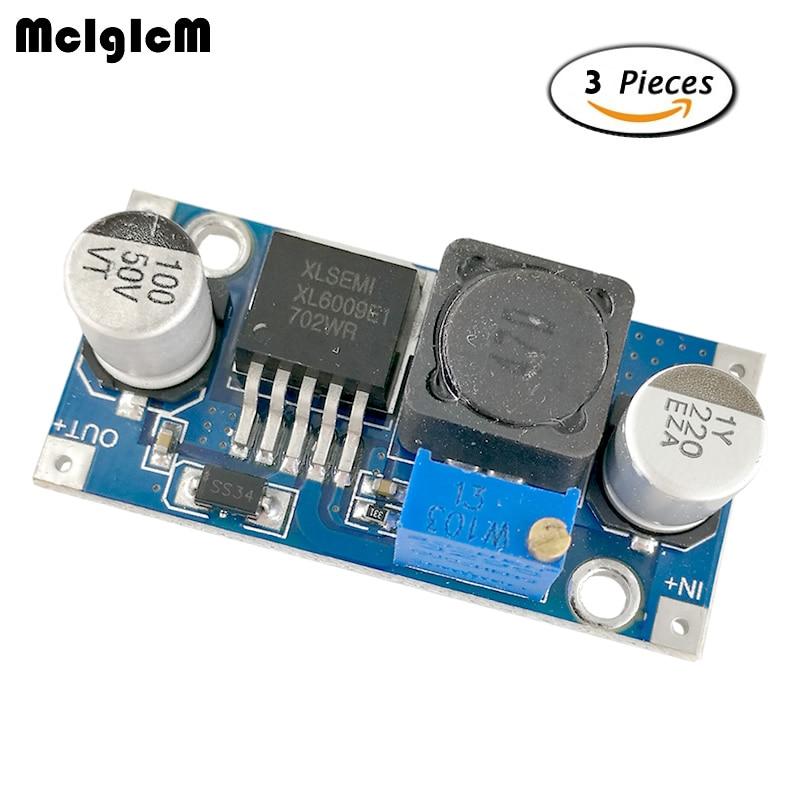 MCIGICM 3pcs XL6009 DC-DC Adjustable Step-up buck boost Power Converter Board Module