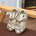 2016 New Brand Fashion Girls Princess Shoes Student Children PU Leather Bowknot Kids Party Shoe soft soles size 26~36