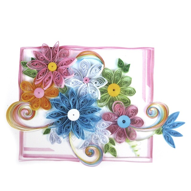 Aliexpress Buy Beautiful Flowers Painting Art Paper Quilling