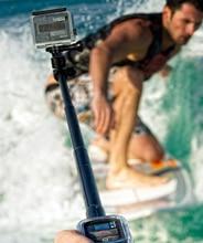 Gopro tripe handheld palo dome hero three three+ four digicam extender black selfie stick Gopro monopod equipment