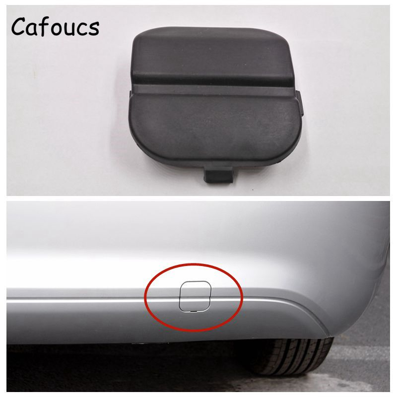 Cafoucs Car Rear Bumper Tow Trailer Cover For <font><b>Ford</b></font> <font><b>Focus</b></font> 2009 <font><b>2010</b></font> Towing Hook Decoration Cap image
