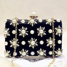 Black Beaded Crystal Evening Bag for Women Female Wedding Clutch Bag Black Bridal Bag Ladies Party Dinner Box Day Clutch Purse цены онлайн