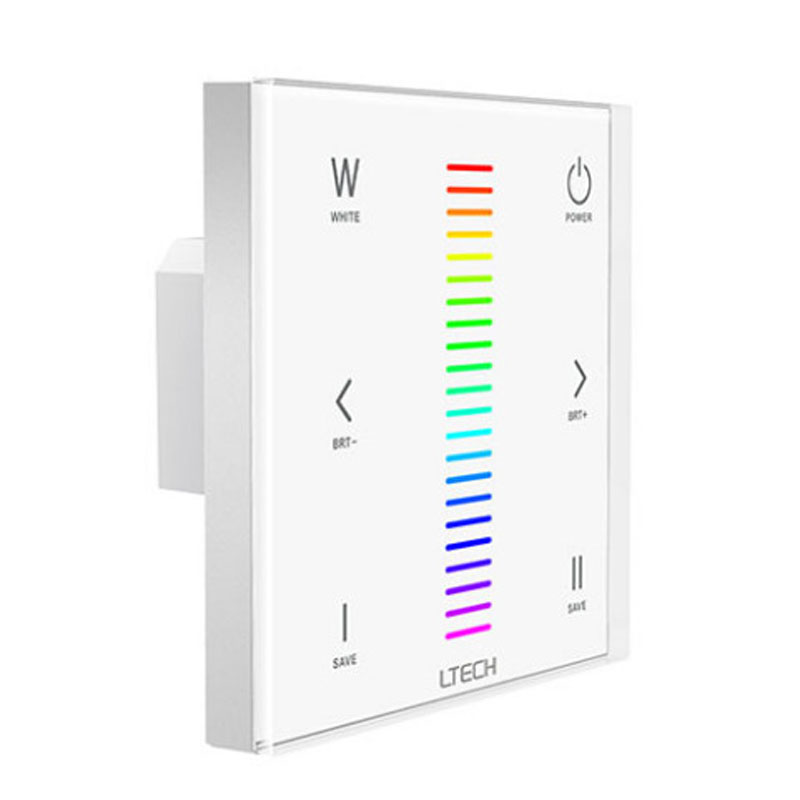 Ltech Wall Mount Ex4 Led Rgbw Controller Touch Panel Rgb Rgbw Controller 2.4g Rf Dmx512 F4 Remote F4-5a/f4-3a Receiver Easy And Simple To Handle Lights & Lighting Lighting Accessories