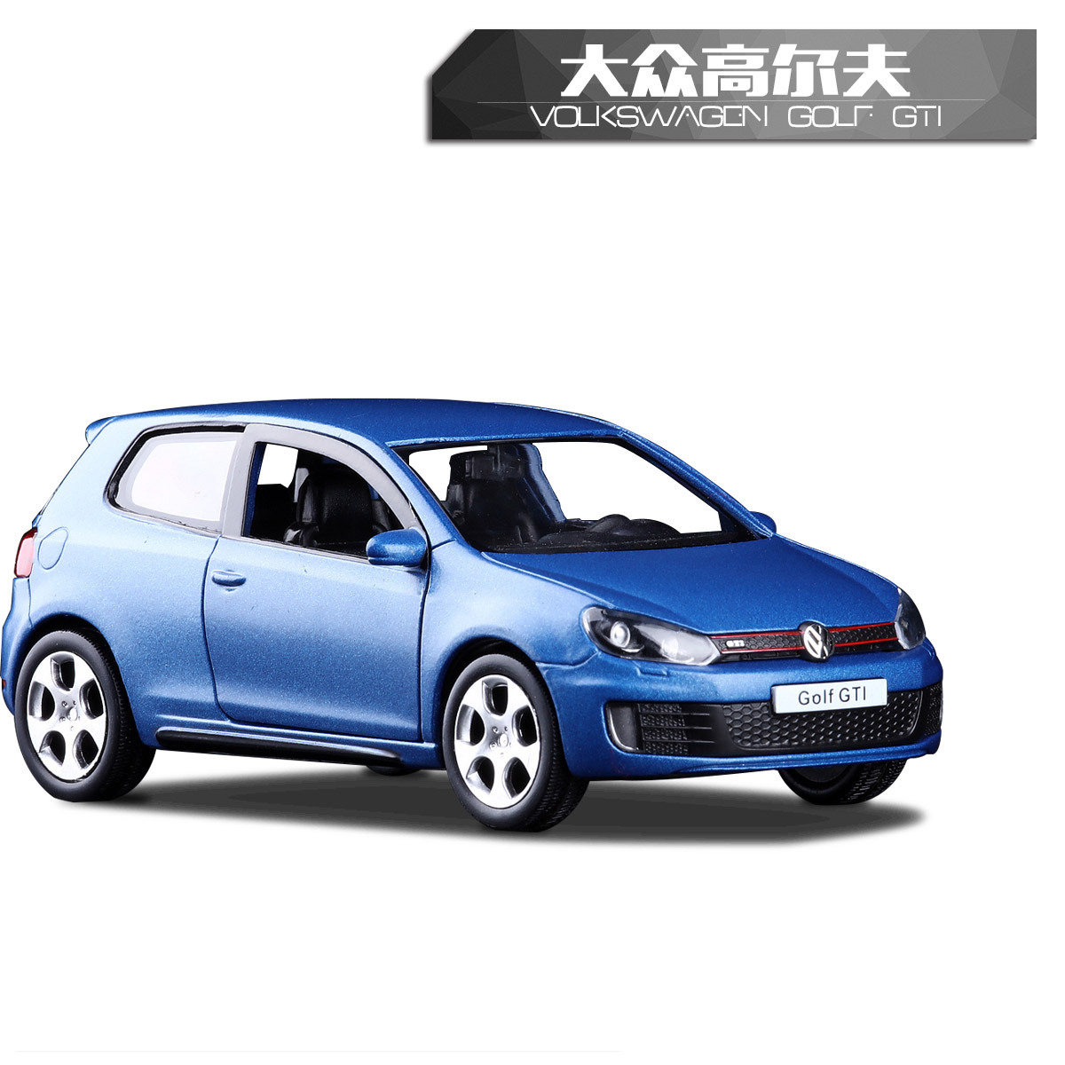 High Simulation RMZ City 1/36 VW Golf GTI MK6 Alloy Car Model Diecast Metal With Pull Back Car Toy For Baby Gifts Collection