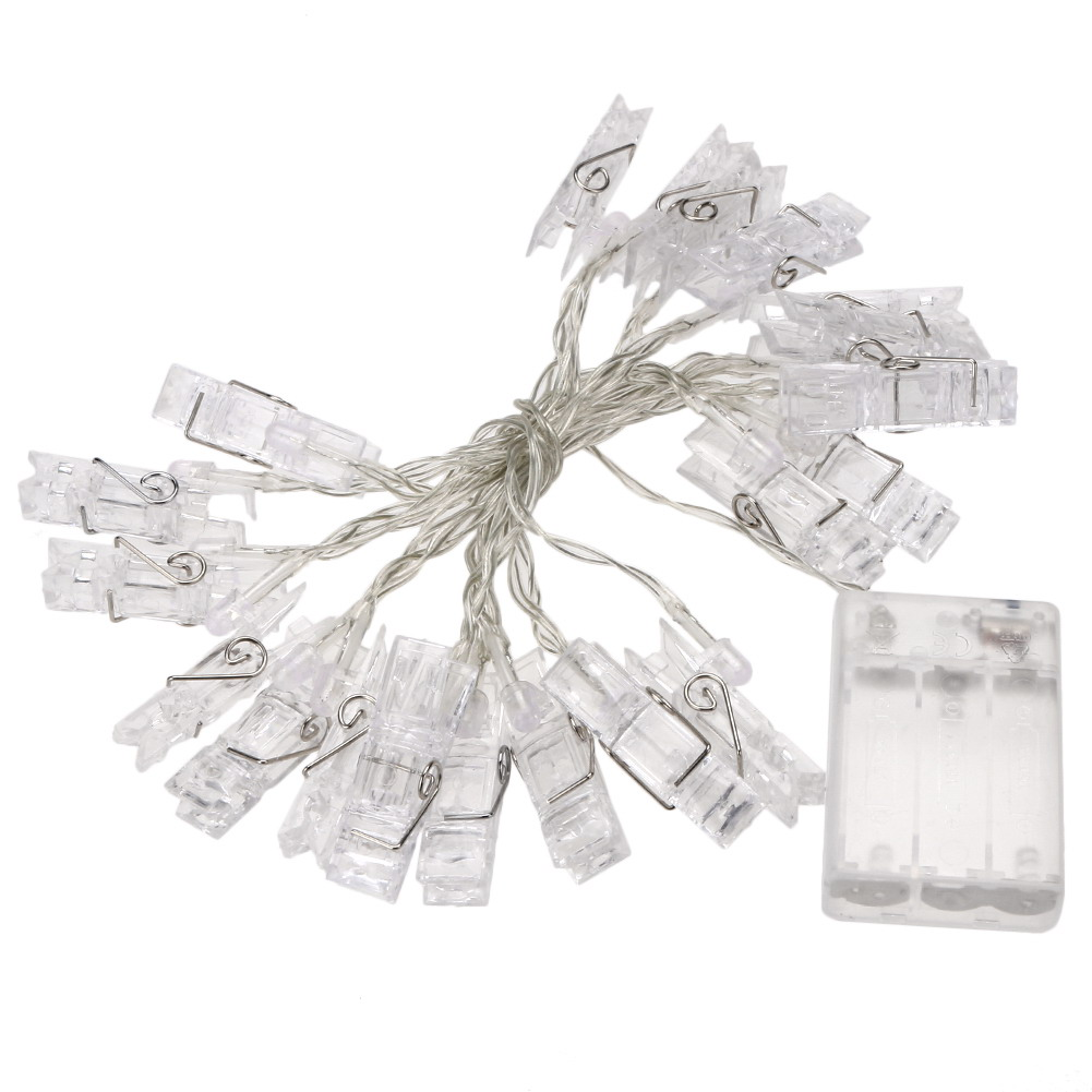 2.5M Mini 20 led Card Photo clip LED copper wire string Fairy light lamp book Photo folder string lights Christmas lights ...