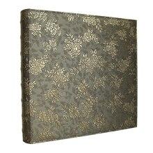 600 جيوب 6 بوصة إنتيرليف نوع كبير قدرة عالية ألبوم صور بولي Leather ألبوم صور جلدية s اليدوية لتقوم بها بنفسك تذكارية الأسرة زهرة