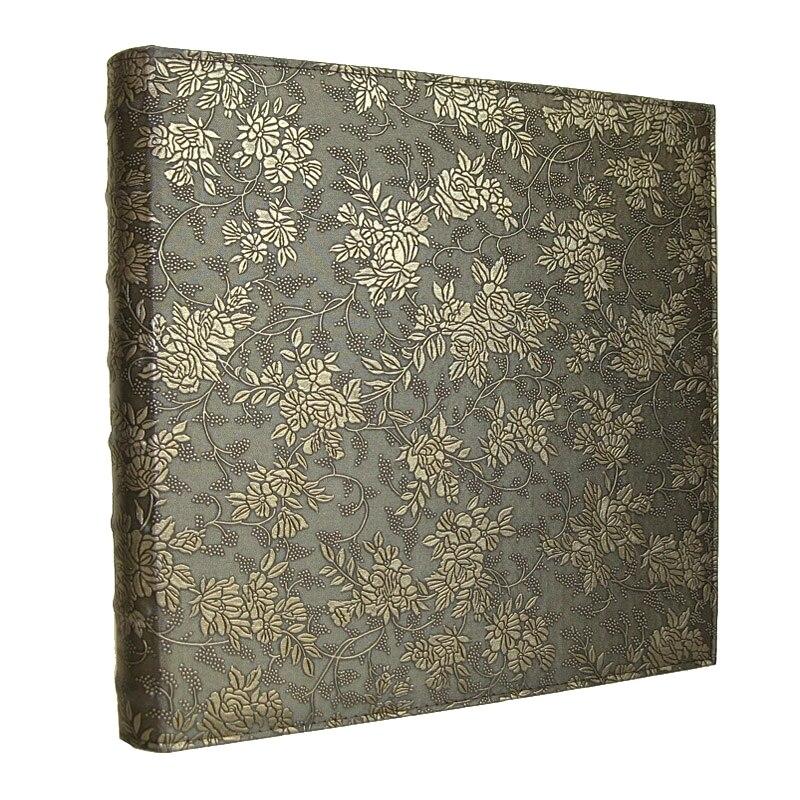 600 bolsillos 6 pulgadas Interleaf tipo gran capacidad álbum de fotos PU cuero foto álbumes hecho a mano DIY flor conmemorativa de la familia