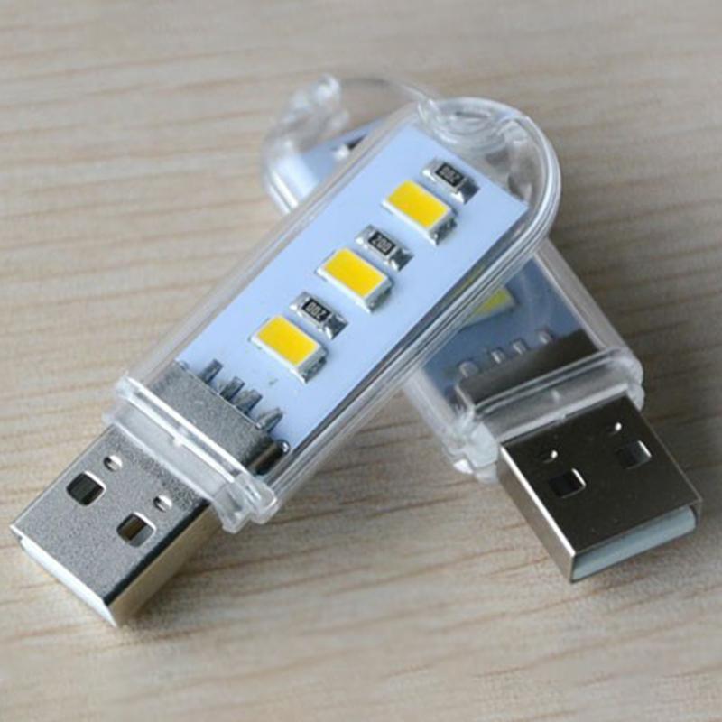 USB LED Book Light Portable 500mah 5V 150LM Luminance PVC+plastic Reading Night Ligh