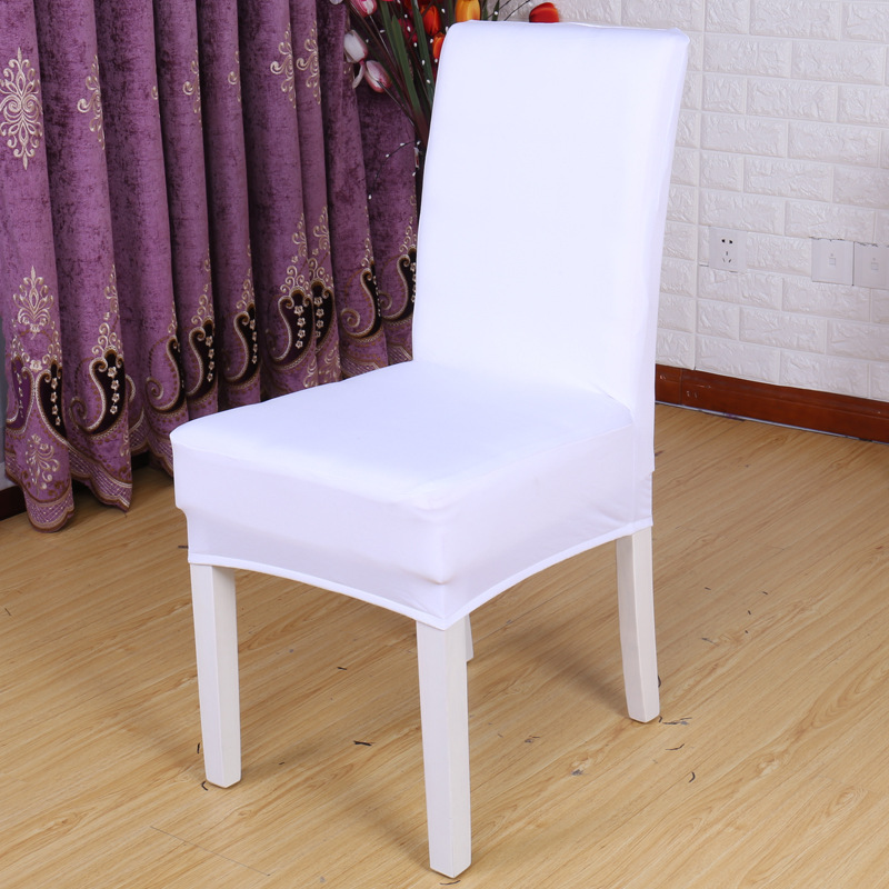 4pcs/lot Universal Multi Stretch Spandex Half Chair Cover Lycra Polyester Fabric Wedding Party Banquet Hotel Dining Chair Cover Home Textile Chair Cover