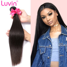 Luvin Brazilian Hair Weave Bundles Unprocessed Virgin Hair Weave Natrual Straight Human Hair Extensions 30 Inch Bundles 1 3 4Pcs(China)