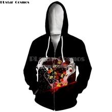 PLstar Cosmos 3D Print Delicious Food Funny  Hooded New zipper Hoodie Long Sleeve Women/Men hooded stripe print long sleeve hoodie