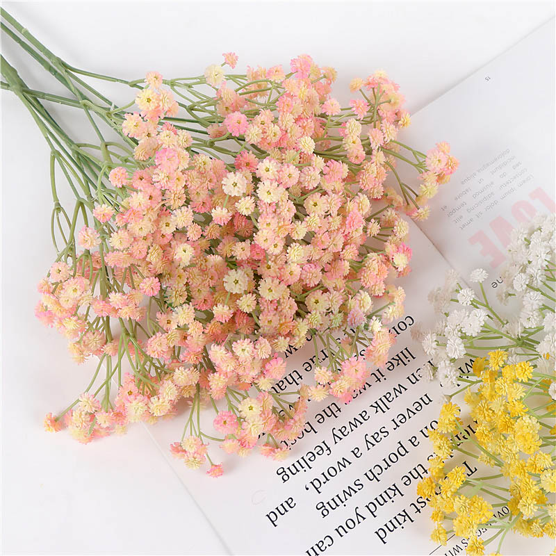 Quality Artificial Simulation All Over The Sky Star Leek Flower Bouquets Of Bubble/wedding Dress Handicrafts Dropshipping Hr Exquisite Workmanship In