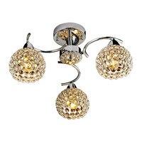 Promosyon fiyat art deco tavan lambası altın krom finish ile 110 v 220 v ev dekorasyon aydınlatma armatürü led ampuller ücretsiz kargo