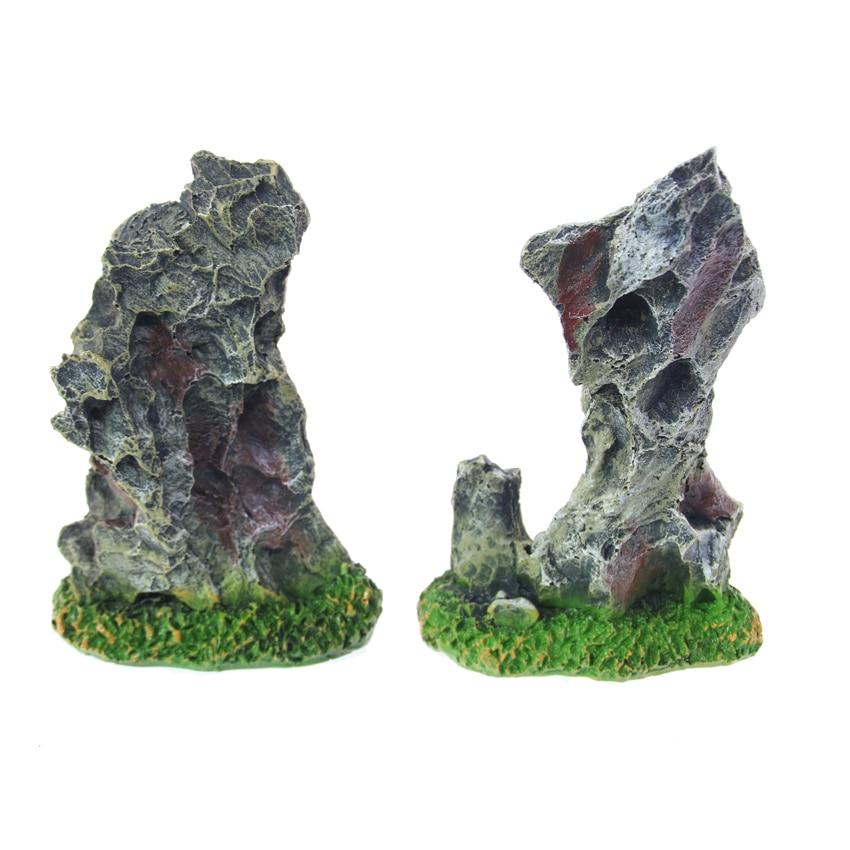Aquarium decorative landscaping resin small rockery stone for Landscaping rocks for aquarium