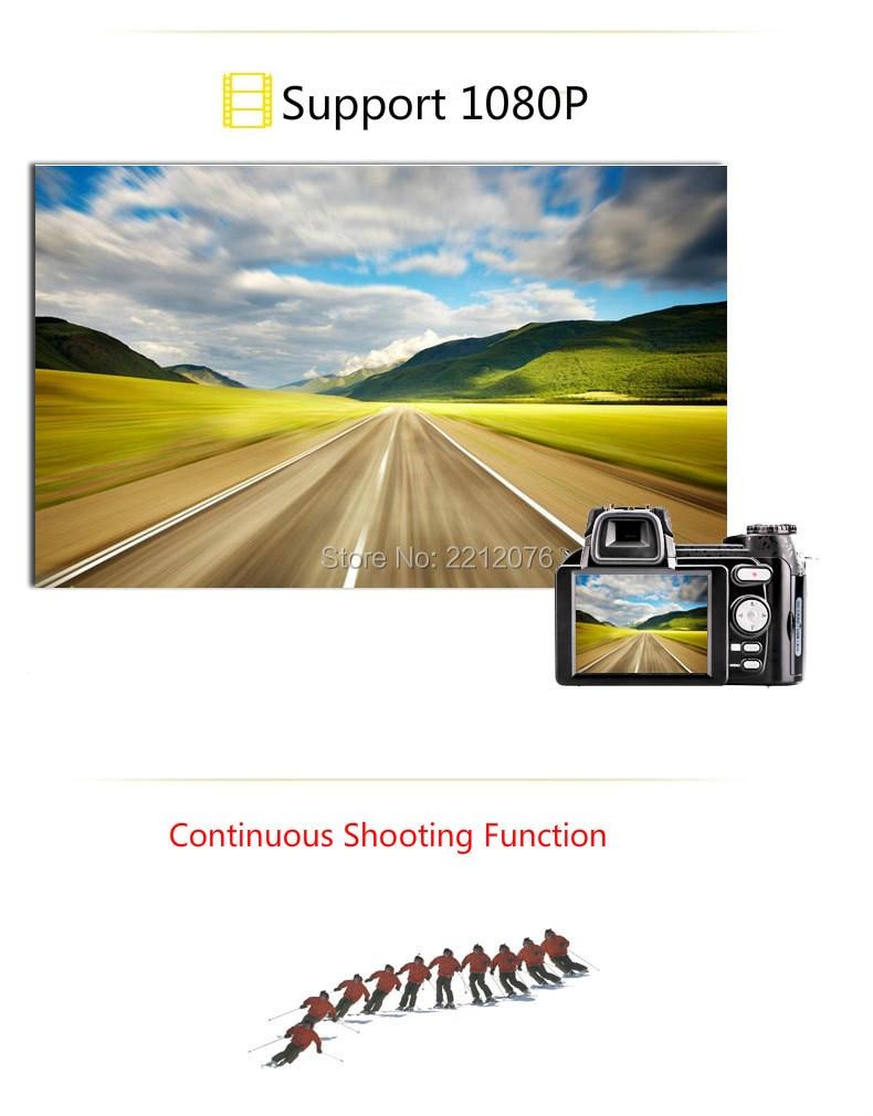 D70 Digital Video Camera 24X optical zoom 33MP interpolated home camera camcorder HD LED headlamps HD camera free shipping 11