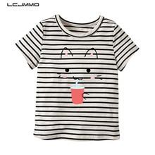 LCJMMO 2018 New 100% Cotton Baby Girls Tshirt Kids Clothes Summer Short Sleeve Cartoon Tops Tee Girl Clothing Infantis Menina