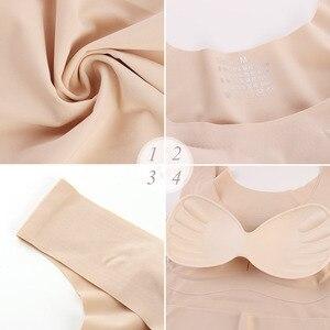 Image 5 - Sujetador de realce sin costuras para mujer, Bralette Sexy de talla grande, almohadillas para ropa interior, sin aros, lote de 3 unidades