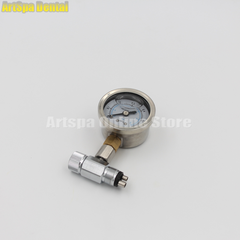 Dental Chair Unit Air Compressor Air Pressure Relief Valve Manometer Meter Dental Air Pressure Gauge 1pc air compressor pressure regulator valve air control pressure gauge relief regulator 75x40x40mm