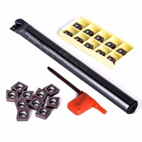 10pcs New Arrival CCMT09T3 Blades Inserts With S16Q SCLCR09 Boring Bar Turning Tool Holder