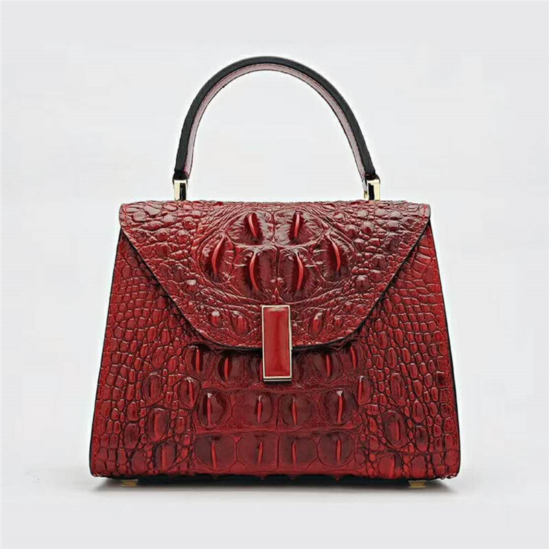 Women Bag Crocodile Pattern Genuine Leather Bag Fashion Women envelope Bags Shoulder Handbag lady Leather Handbags new split leather snake skin pattern women trunker handbag high chic lady fashion modern shoulder bags madam seeks boutiquem2057