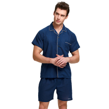 Tony&Candice Pajamas Men Sleepwear 100% Cotton Men's Nightwe