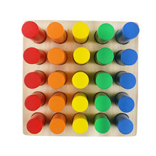 Wooden Montessori Materials Cylinder Ladder Preschool Educational Learning Toys for Children Juguetes Brinquedos ME2444H