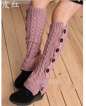 874d6cce6 60pairs lot fedex fast free shipping woman winter casual knitting leg  warmer solid button boots