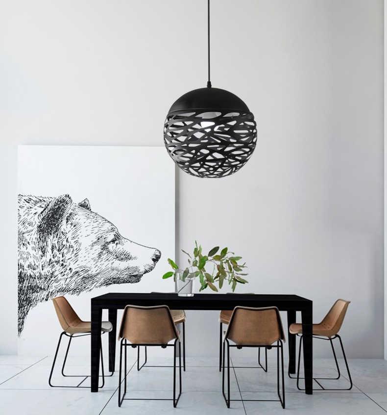 Бесплатная светодио дный доставка современный светодиодный подвесной светильник белый черный живопись металлический подвесной светильник для лестницы столовая гостиная подвесное освещение