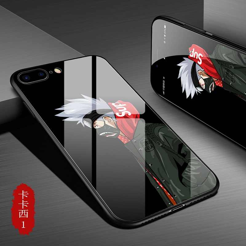 size 40 c14a4 0e536 ... Fashion Cartoon Hokage Ninjia Payne Naruto phone case for iphone x 8  8plus Luxury Tempered Glass ...