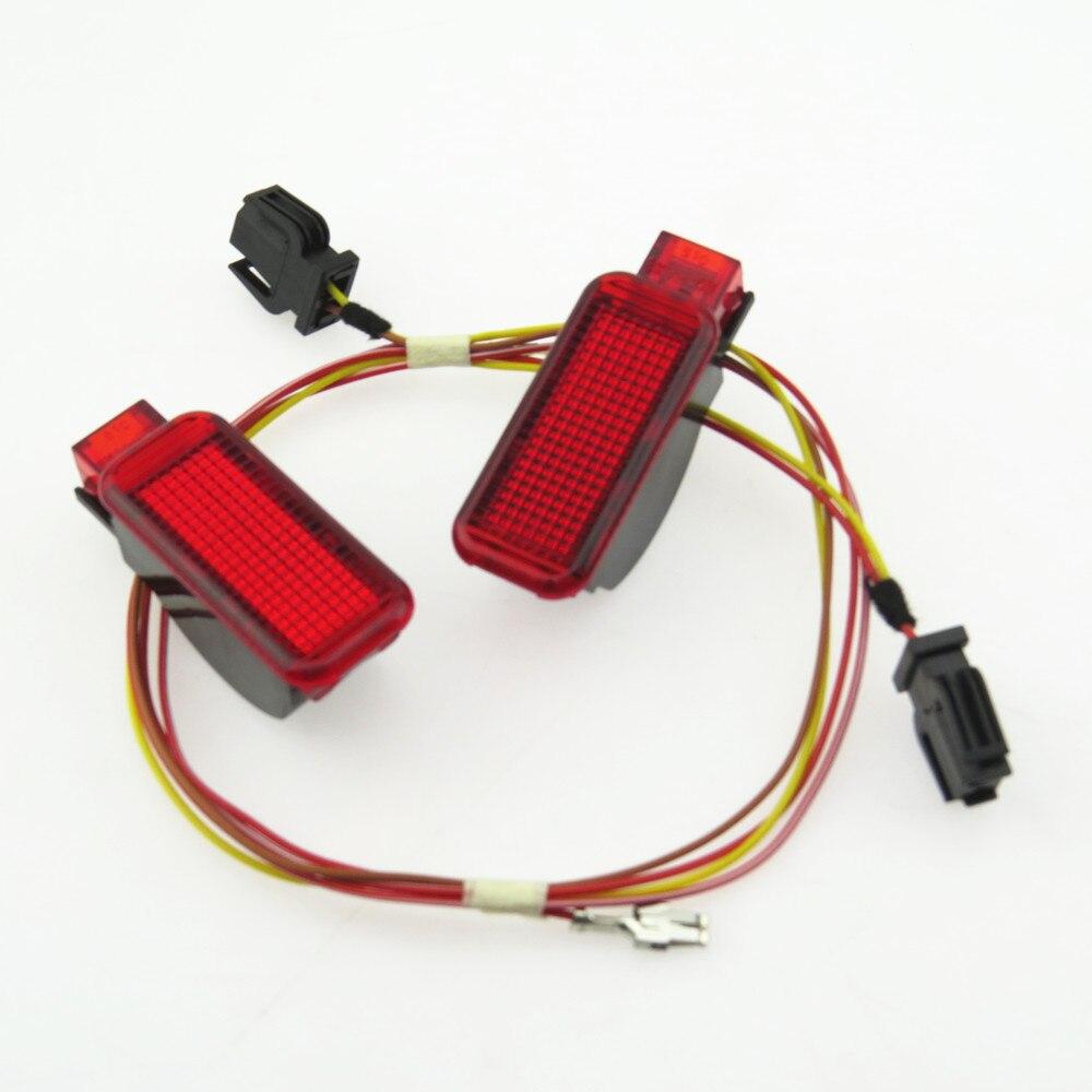 ZUCZUG Rouge Avertissement Lumière Panneau De Porte Intérieur + Câble Harnais Plug Pour A7 A8 A3 A4 A5 A6 Q3 Q5 TT RS3 RS4 RS5 RSQ3 TTRS 8KD947411