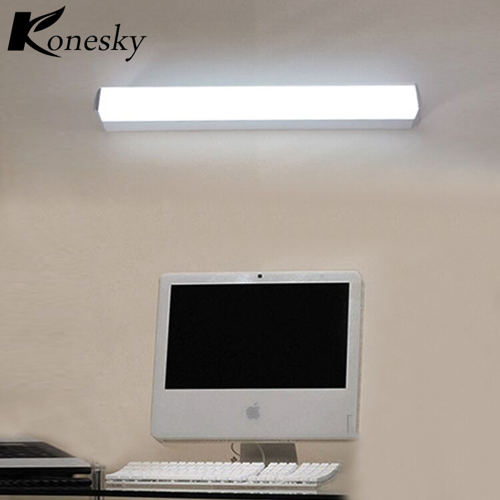 Konesky 12w Led Light Wall Lamp 2 Bare Wiring Waterproof Diagram Bathroom Spotlights Mirror For Office Workplace Christmas Gift In Indoor Lamps From