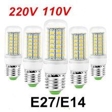 10 pçs smd 5730 e27 led milho lâmpada ed luzes milho lâmpada led 24 56 69 72 96 leds candelabro vela iluminação decoração para casa
