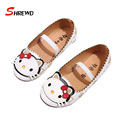 Girl Kids Shoes 2016 Autumn New Fashion Cartoon Baby Girls Shoes Elastic Band Cute Casual Children Shoes Insole 13.5-22cm 9299W