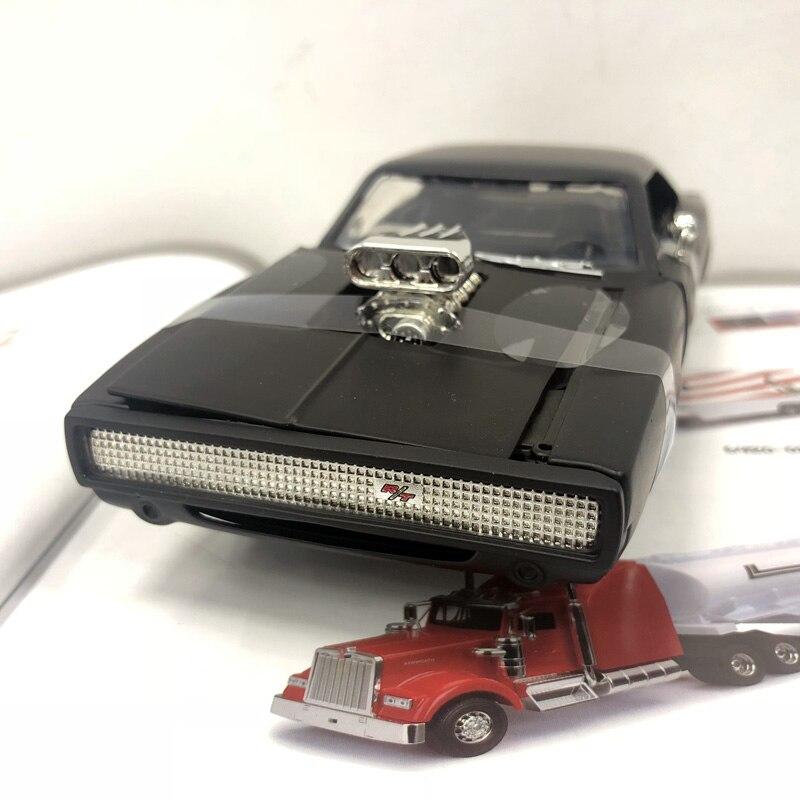 JADA 1/24 Échelle Modèle De Voiture Jouets Fast & Furious 7 Dodge Charger R/T Diecast Toy Voiture En Métal Pour Collection/Cadeau/Décoration/Enfants