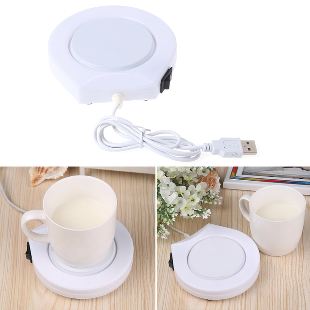 Portable USB Electric Powered Drink Cup Warmer Pad Plate For Office and Home