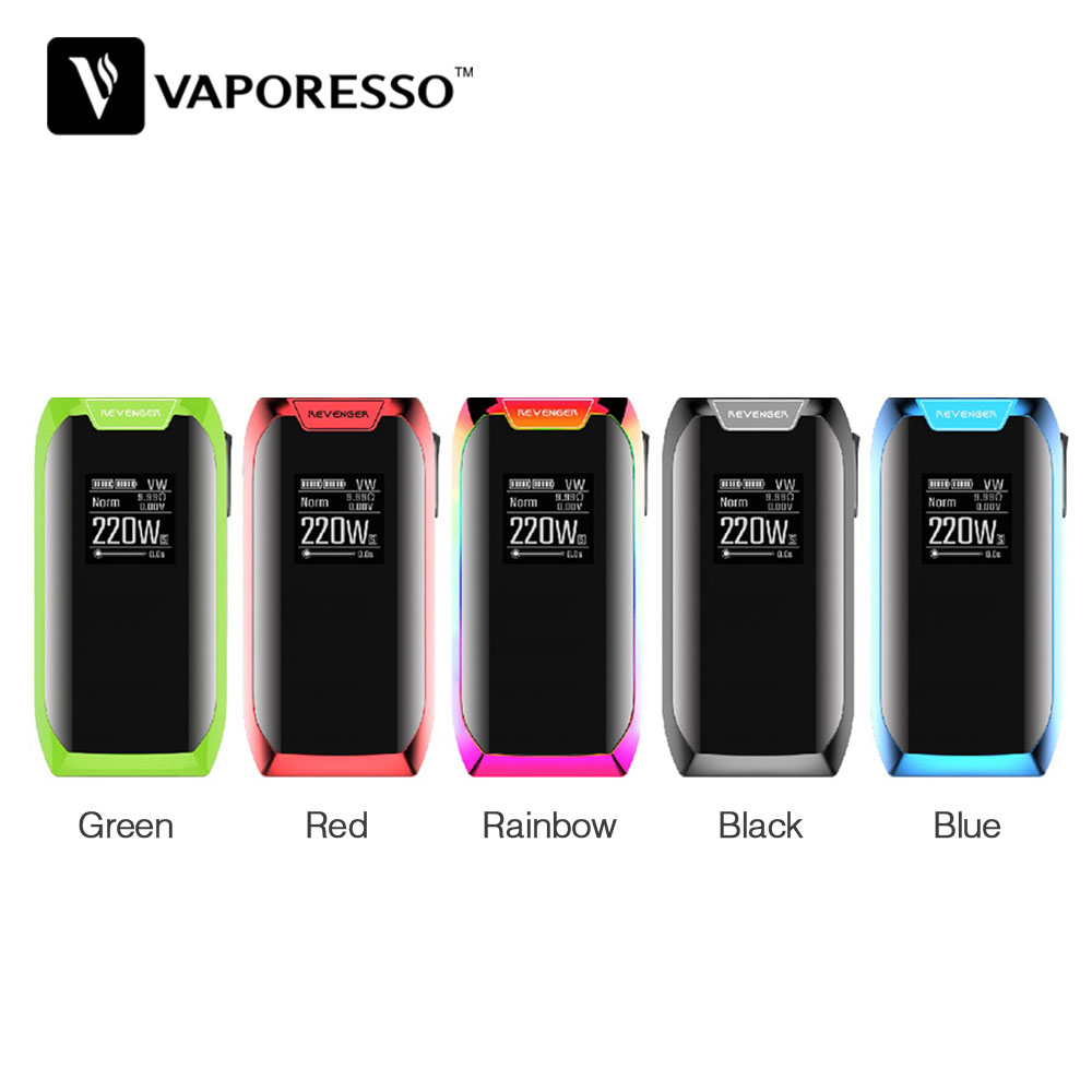 Original Vaporesso Revenger X 220W TC Box MOD Max 220W Output with OLED 0.96 Inch Display & OMNI Board 2.2 Chipset Ecig Vape Mod