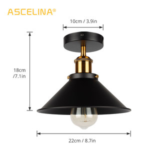 Image 2 - Industrial Ceiling Light Vintage ceiling lamp Adjustable led American country ceiling lamp Home lighting living room E27 85 260V