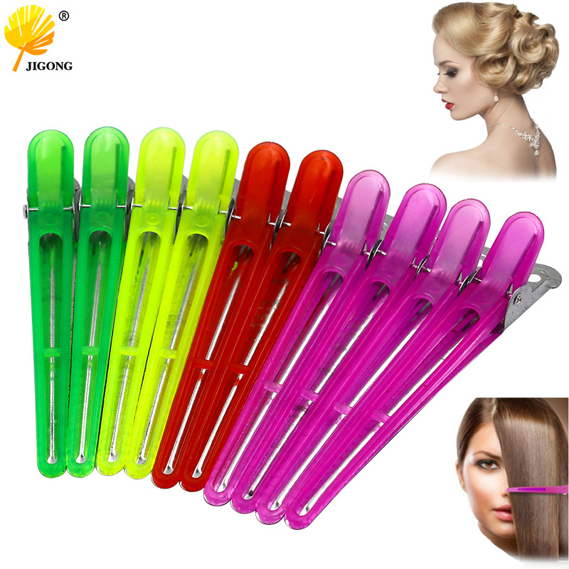 10pc Professional Colorful Hairdressing Salon Sectioning Hair Clip Styling Tools Braiding Hairpins Accessory