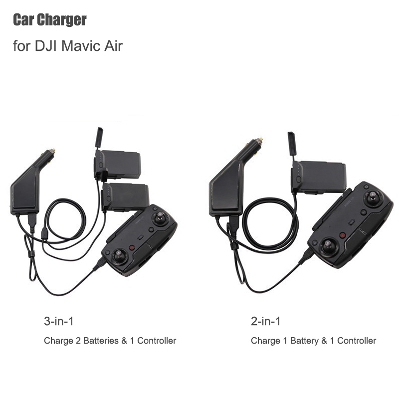 Car Charger For DJI Mavic Air Intelligent Battery Charging Hub Mavic Air Car Connector USB Adapter Multi Battery Car Charger(China)